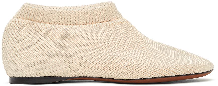 Proenza Schouler 灰白色 Rondo Knit Sock 乐福鞋