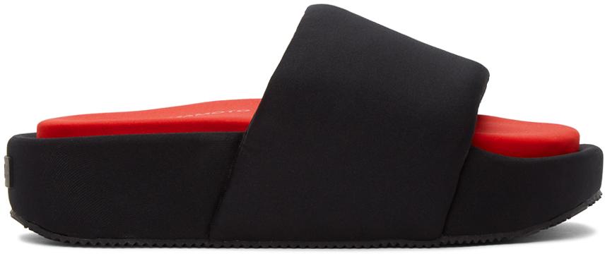 Y-3 黑色氯丁橡胶拖鞋