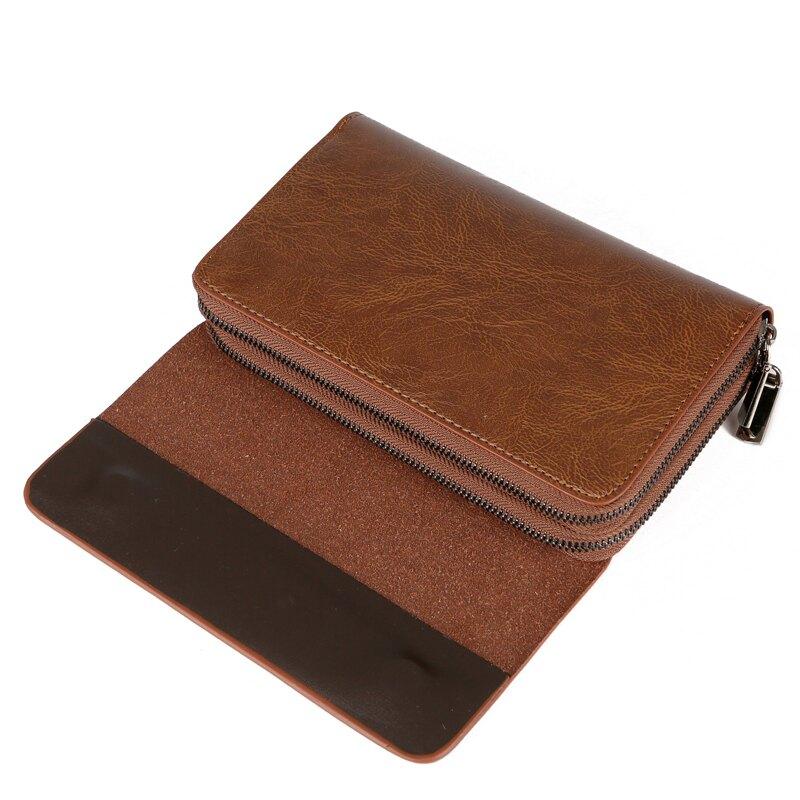 男款長夾 男生皮夾 男士錢包 大容量手包錢包 2018新款男士 商務錢包大容量 時尚雙拉鏈潮錢包