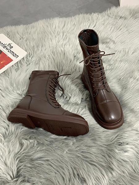 馬丁靴 炸街單靴2021年春夏季新款馬丁靴女英倫薄款短靴騎士靴【新品狂歡】