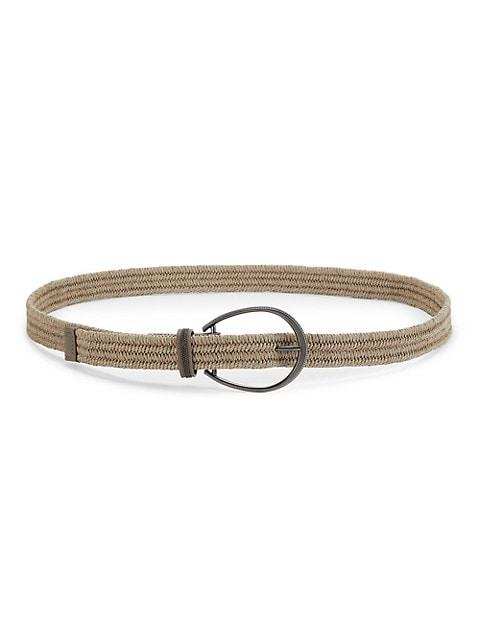 Thin Raffia Belt