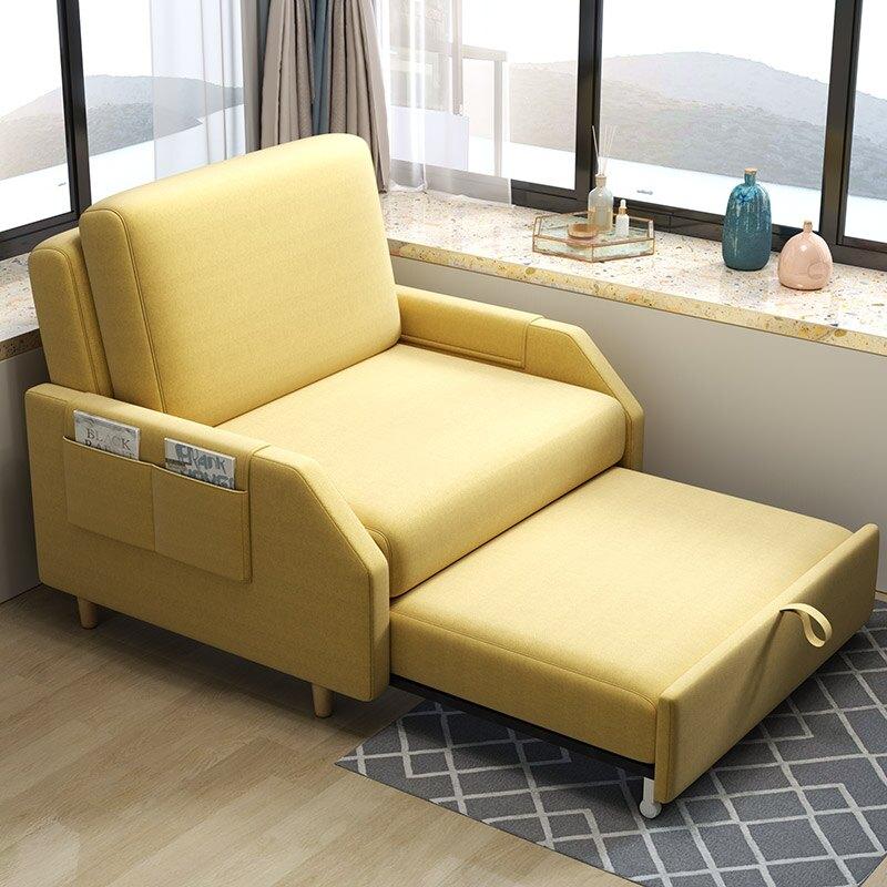 折疊床 午休折疊床單雙人辦公室午睡可伸縮多功能兩用家用科技布沙發躺椅