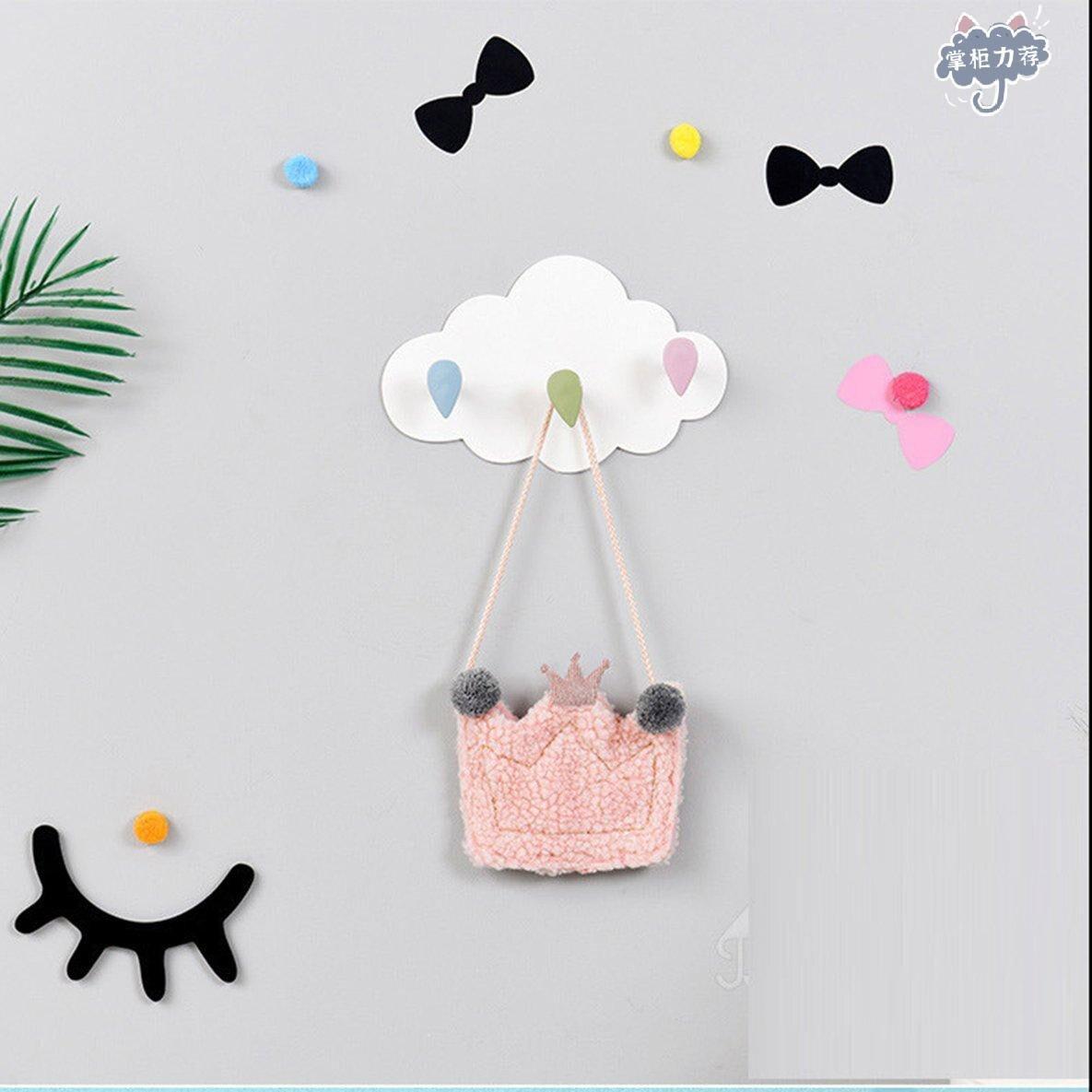【全館免運】創意可愛雲朵強力粘膠掛鉤牆貼浴室掛勾新品 上架