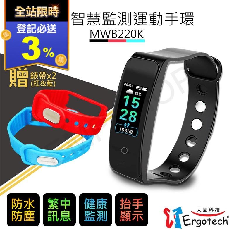 【人因科技Ergotech】心律智慧監測運動手環 MWB220K