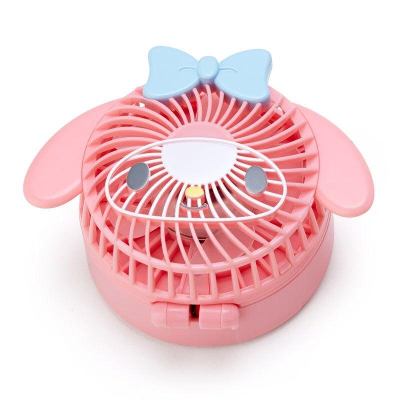 造型風扇 可折疊風扇 美樂蒂melody 大臉 G44 隨行風扇 風扇 隨身小風扇 掛脖式風扇 手持風扇 真愛日本