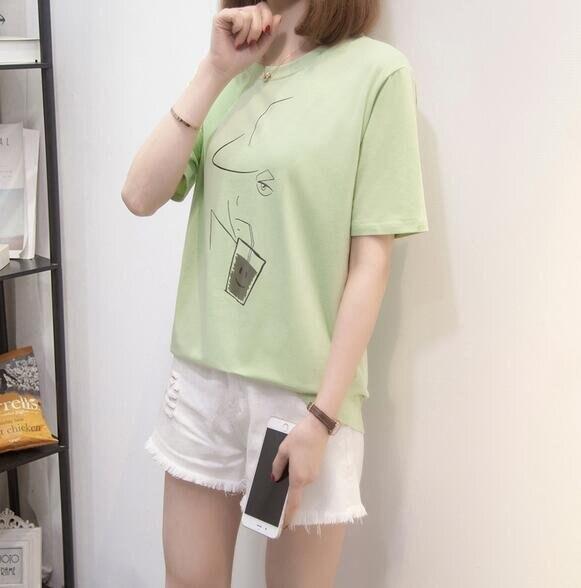 上衣 T卹 短袖 簡約 中大尺碼L-4XL新款圓領純棉短袖T卹R26-21067.胖胖唯依 果果輕時尚