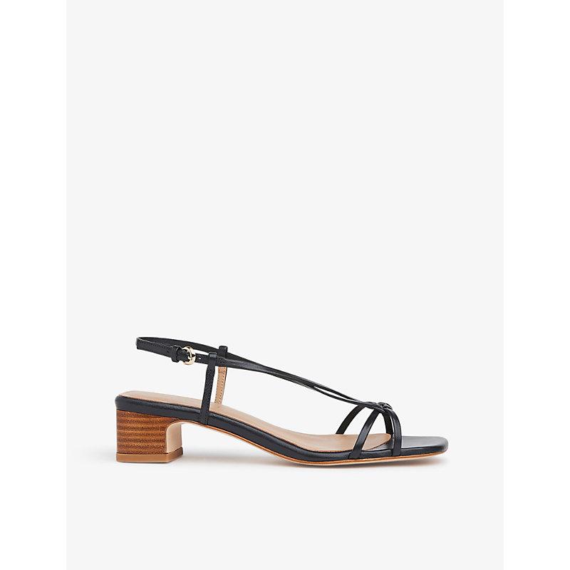 Sabrina braided leather heeled sandals