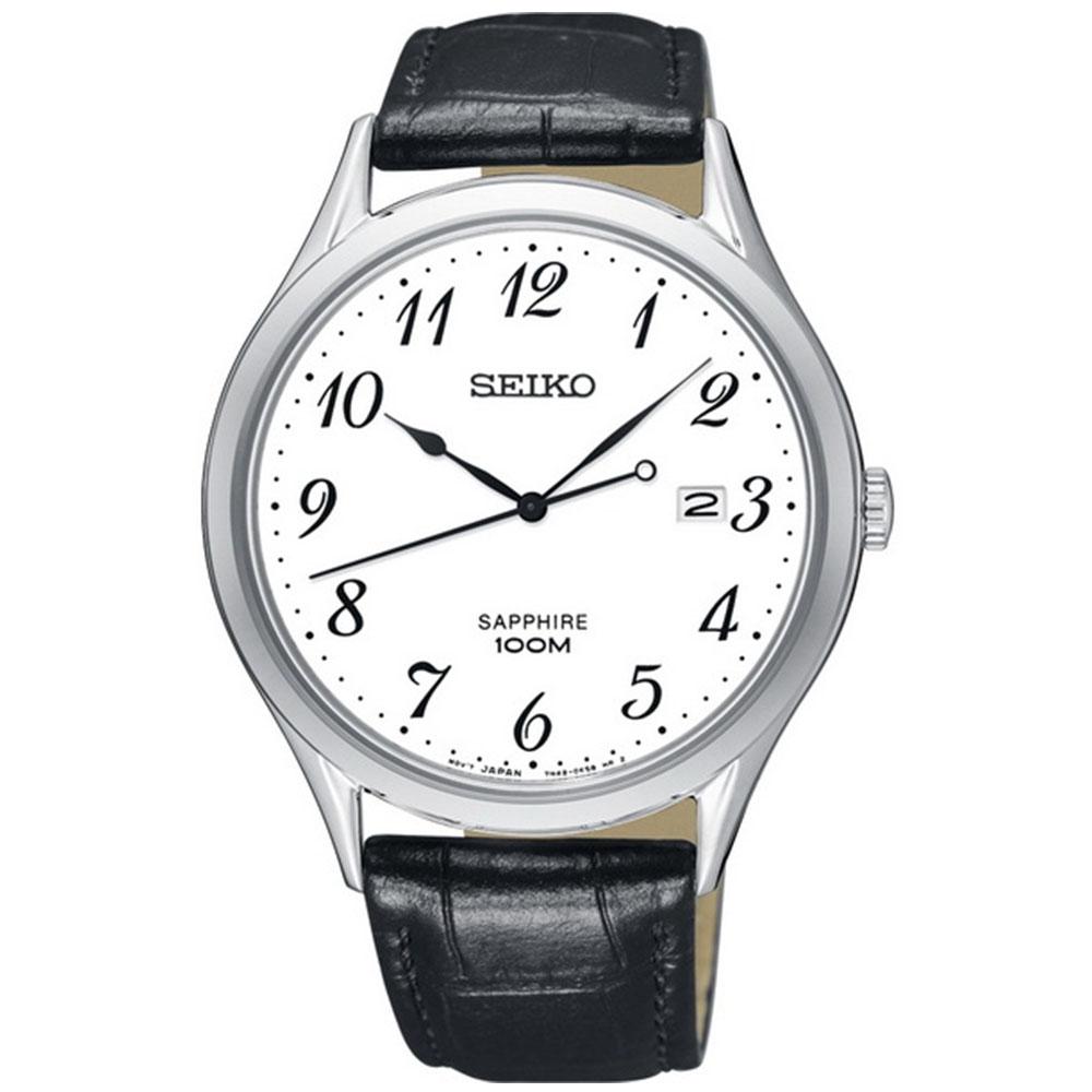 【SEIKO】精工 SPIRIT 悠閒品味時尚腕錶 SGEH75P1@7N42-0FW0Z 皮帶 白面 40mm