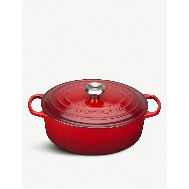Oval cast iron casserole dish 29cm