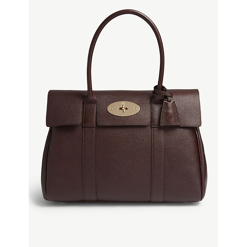 Bayswater grained-leather tote bag
