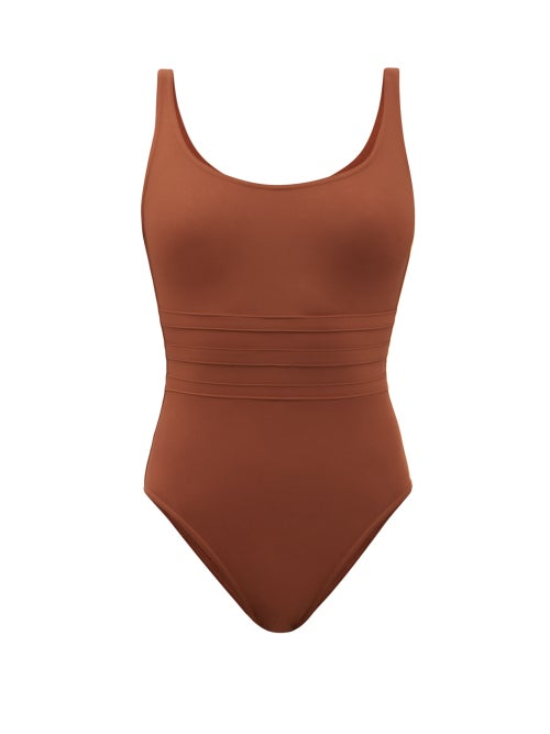 Eres - Asia Panelled-front Swimsuit - Womens - Brown