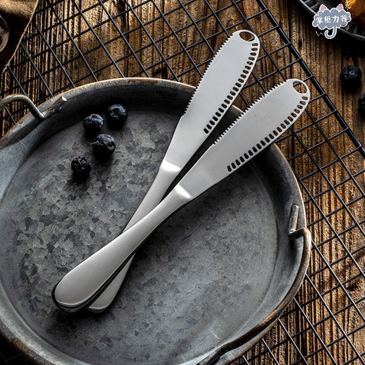 【全館免運】不銹鋼奶酪刀黃油刀切刀叉實用家用新品 上架