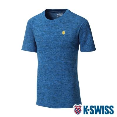 K-SWISS Back KS Logo Tee涼感排汗T恤-男-寶藍