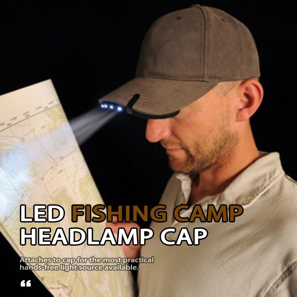 【全館免運】5 LED帽燈帽子燈釣魚頭燈夜釣燈帶電池 帽簷燈 5LED夾帽燈 夾燈漁具釣魚用品