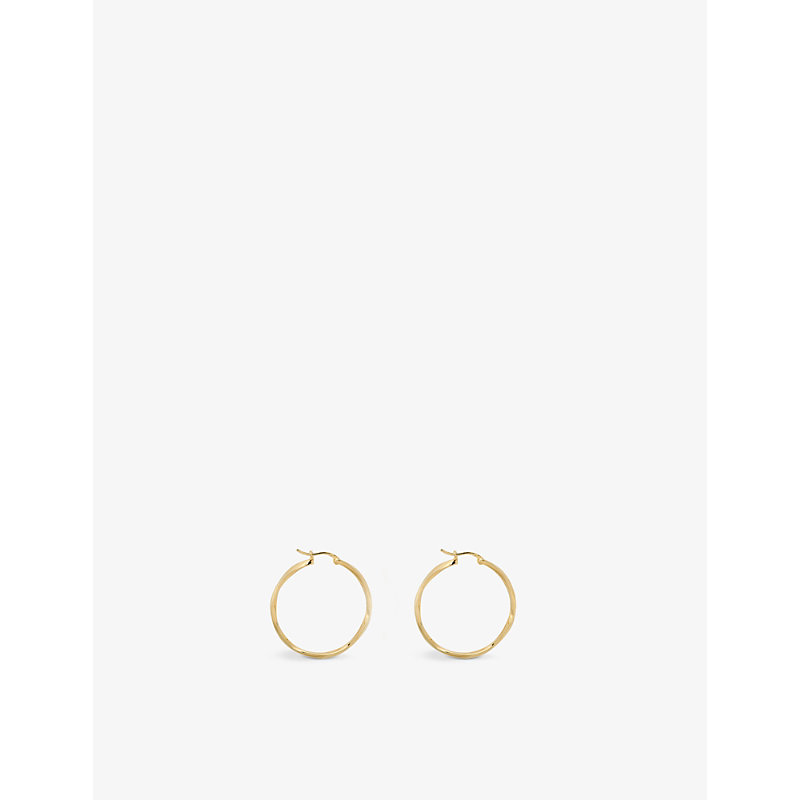 Dazzling Hoop 14ct yellow gold-plated sterling silver earrings