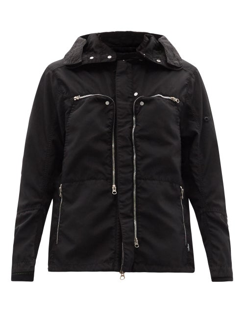 Stone Island Shadow Project - Ventilated-panel Hooded Technical-shell Jacket - Mens - Black