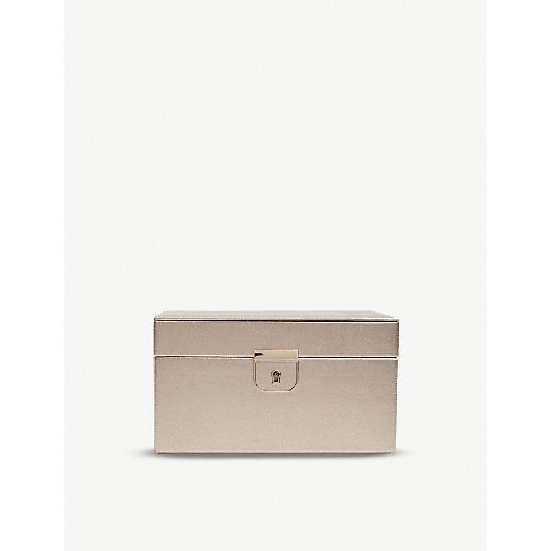 WOLF metallic leather jewellery box