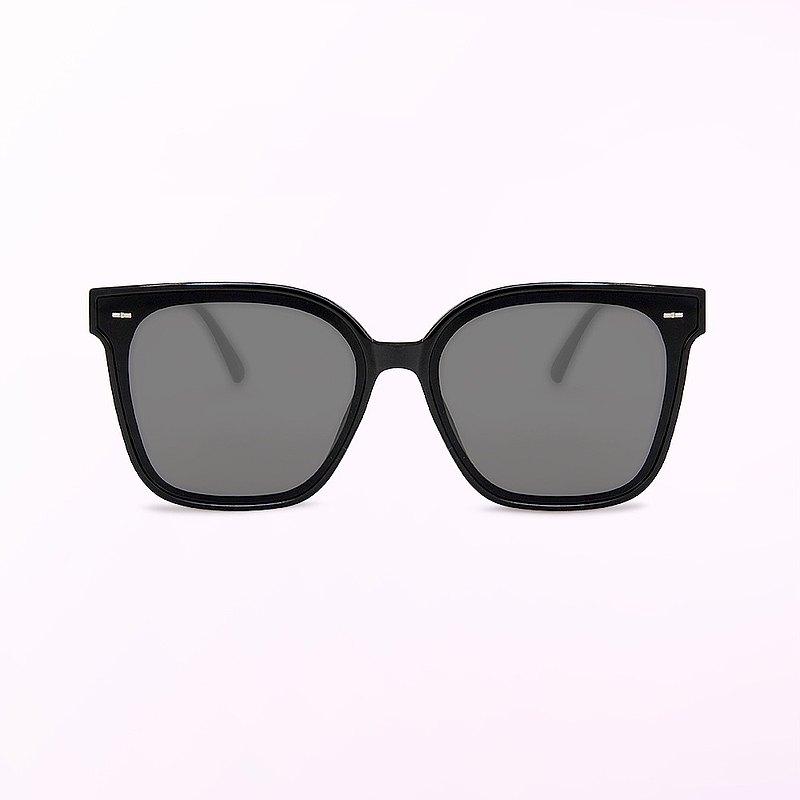 日不落城市光點│月牙黑韓版中性貓眼方框墨鏡│UV400太陽眼鏡