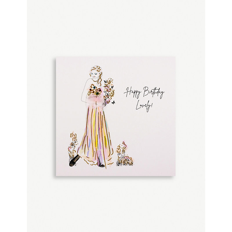 Happy Birthday Lovely greetings card 16.5cm x 16.5cm