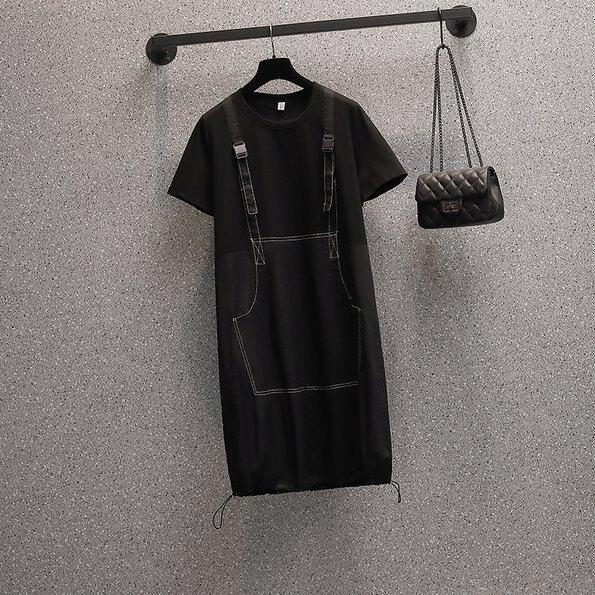 長版衣洋裝連身裙L-4XL中大尺碼遮肉顯瘦減齡中長款連衣裙R06B.9719 果果輕時尚