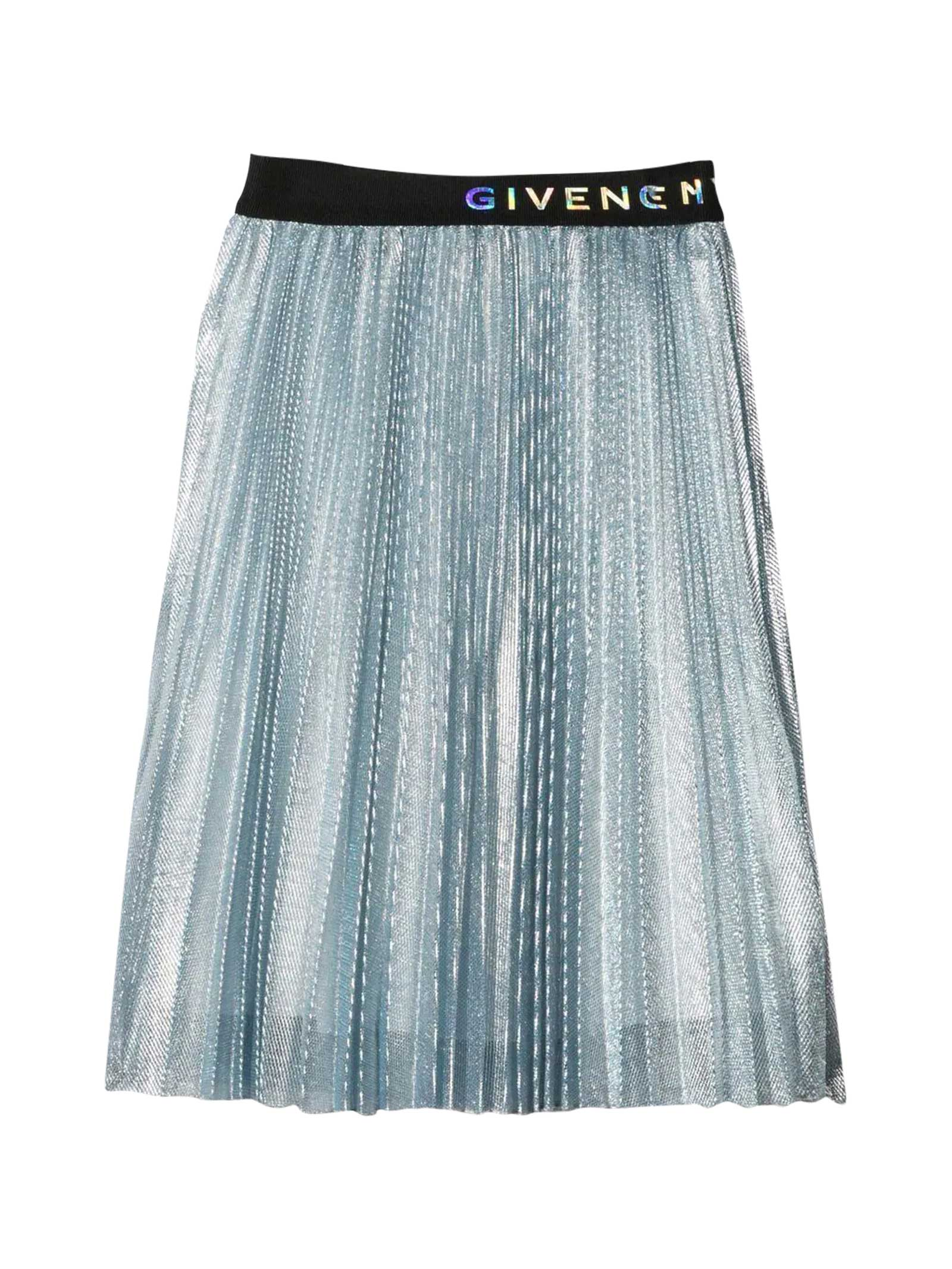 Givenchy Pleated Blue Skirt