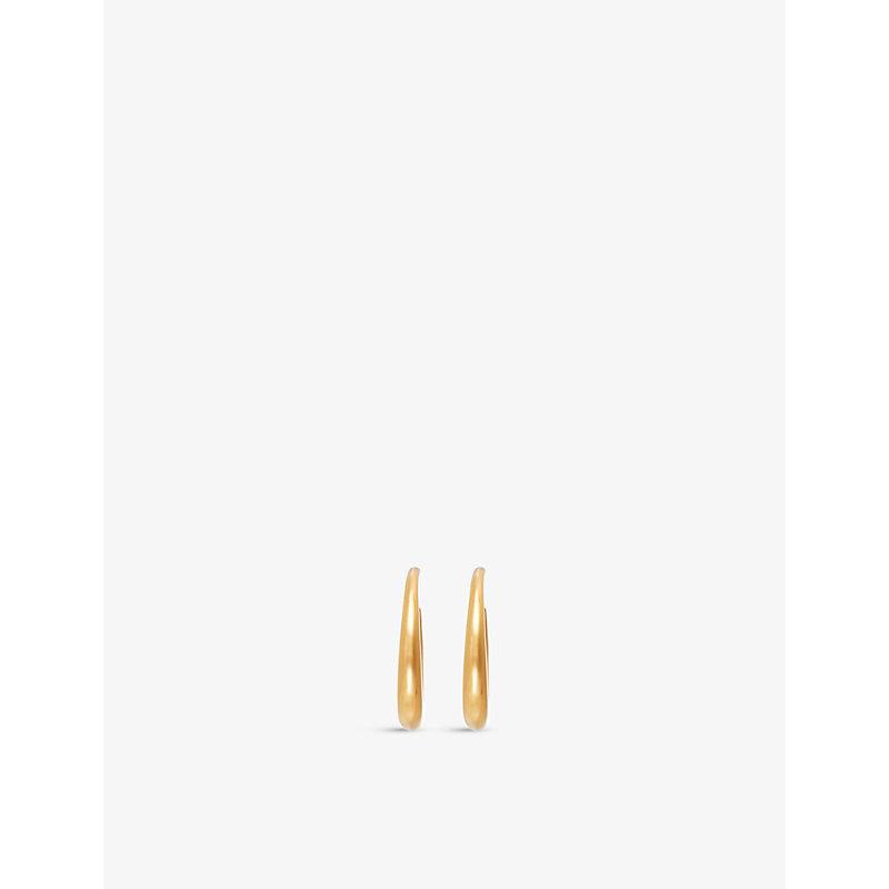 Graduated gold-plated vermeil silver hoop earrings