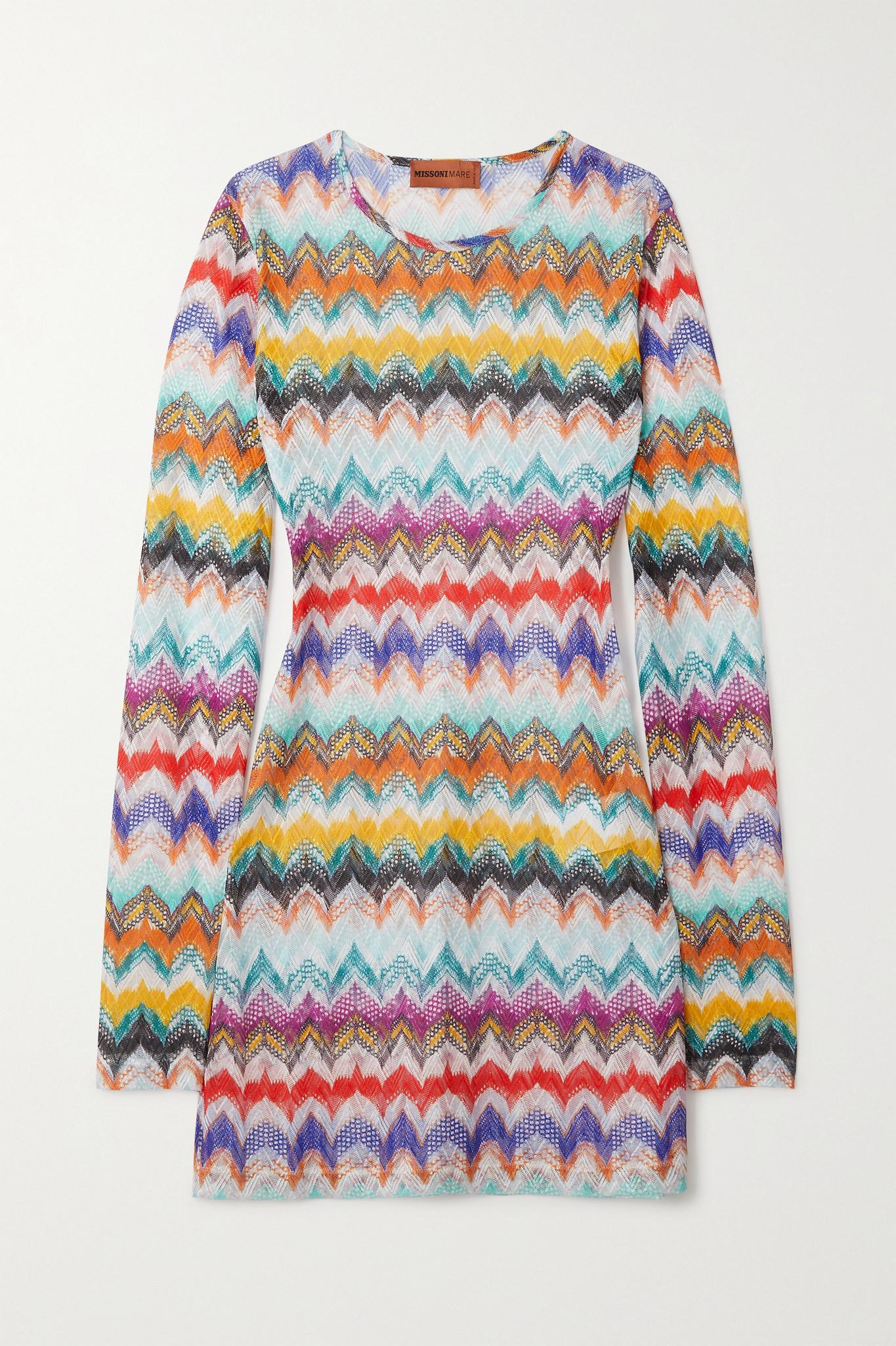 MISSONI - Mare Crochet-knit Mini Dress - White - IT38