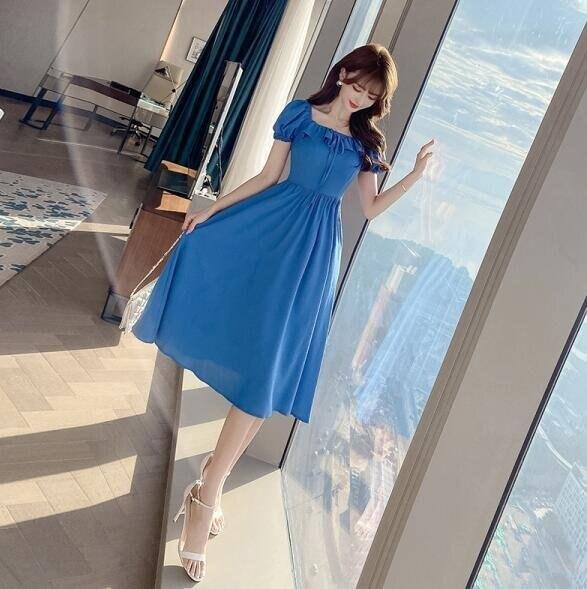 洋裝 短袖 長裙S-XL新款氣質連身裙T235-1235. 果果輕時尚