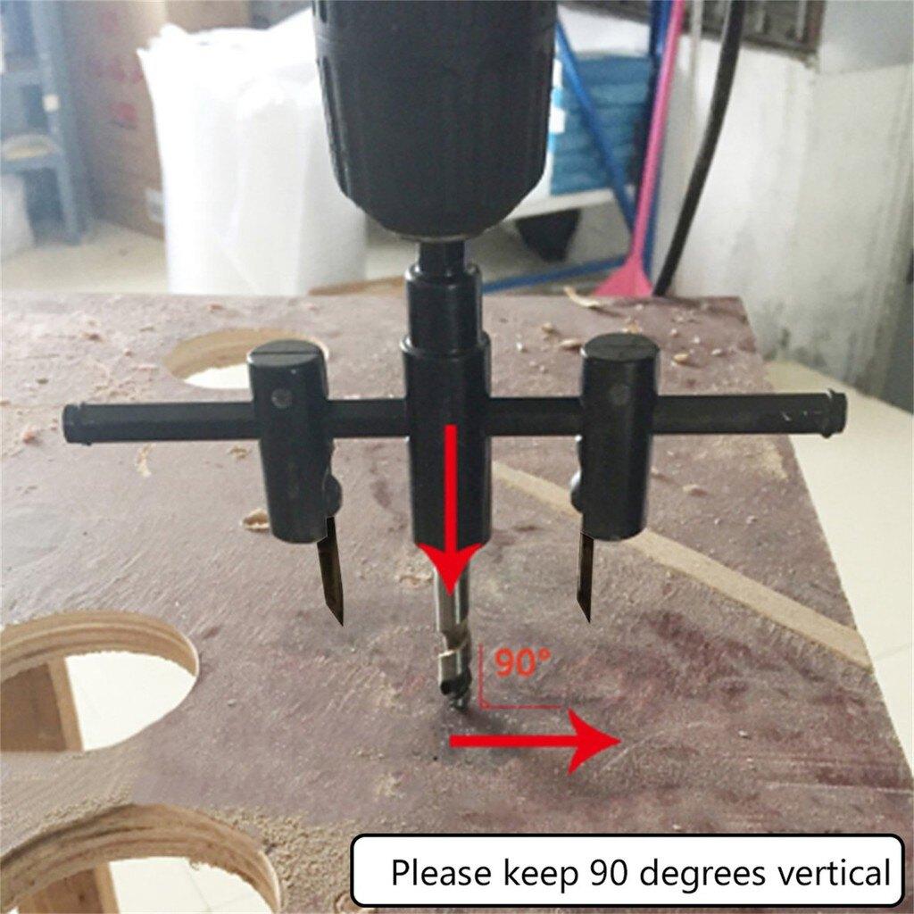 鑽頭套裝 合金鋼木圓孔鋸鑽鑽頭銑刀套件可調  可調金屬木圓鑽孔鑽頭套裝30毫米-120mm