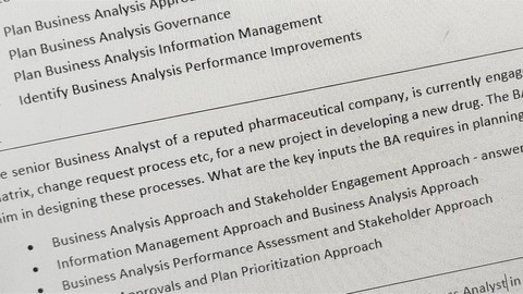 Test Your Knowledge: Business Analysis - CBAP Module 1