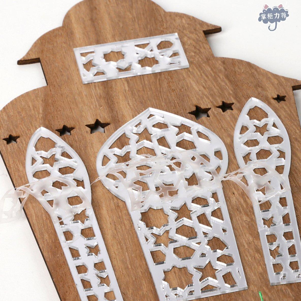 【全館免運】Jm01345木製開齋節鋁燈籠配鏡面流蘇鏡面家居吊墜