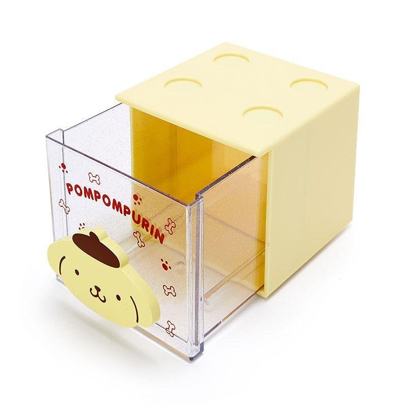 積木方形收納小盒 布丁狗 大臉 GD44 收納盒 飾品盒 小物收納 積木盒 可堆疊 真愛日本