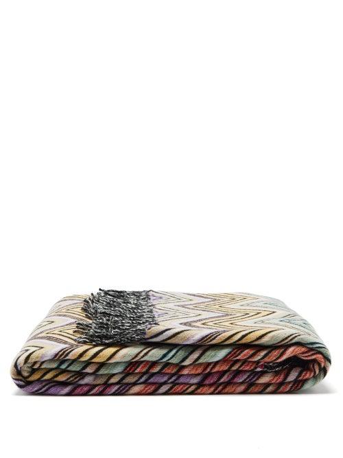 Missoni Home - Perseo Zigzag-jacquard Wool-blend Blanket - Multi
