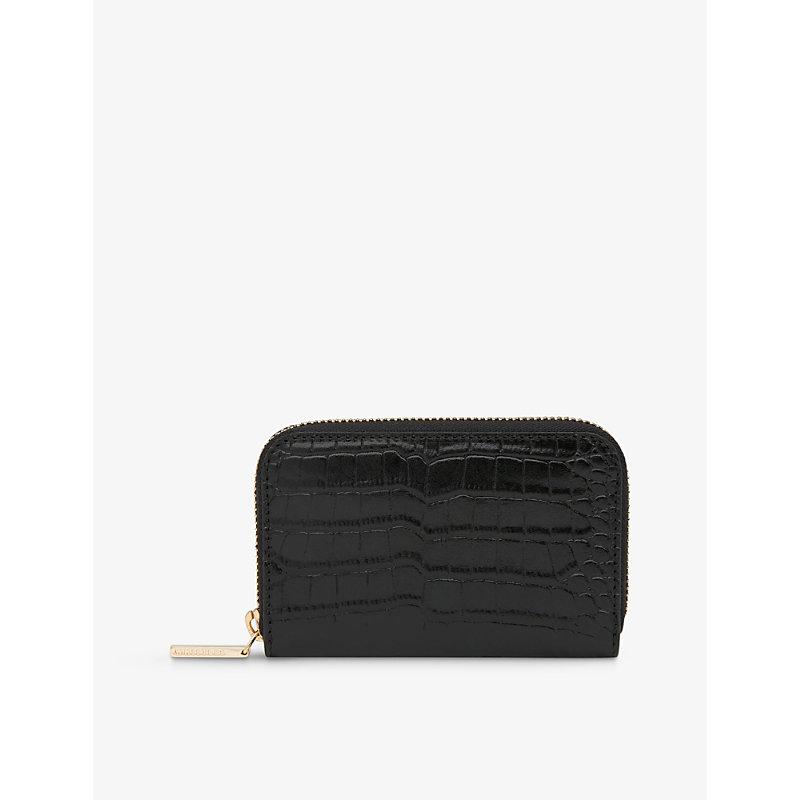 Kira crocodile-embossed leather purse