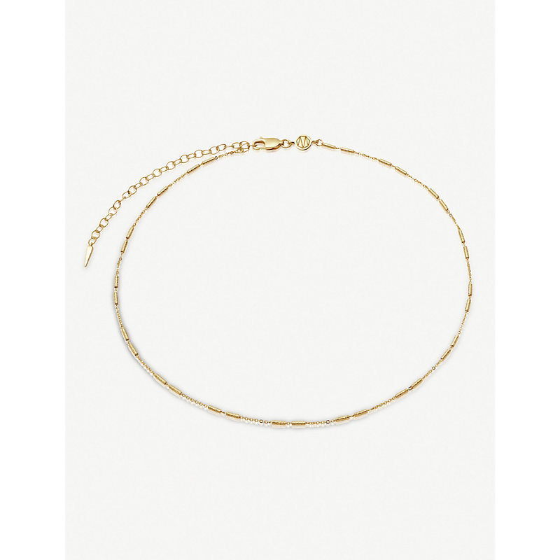Vervelle 18ct yellow gold-plated vermeil sterling-silver choker