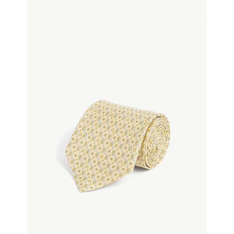 Gianco and turtle-print silk tie
