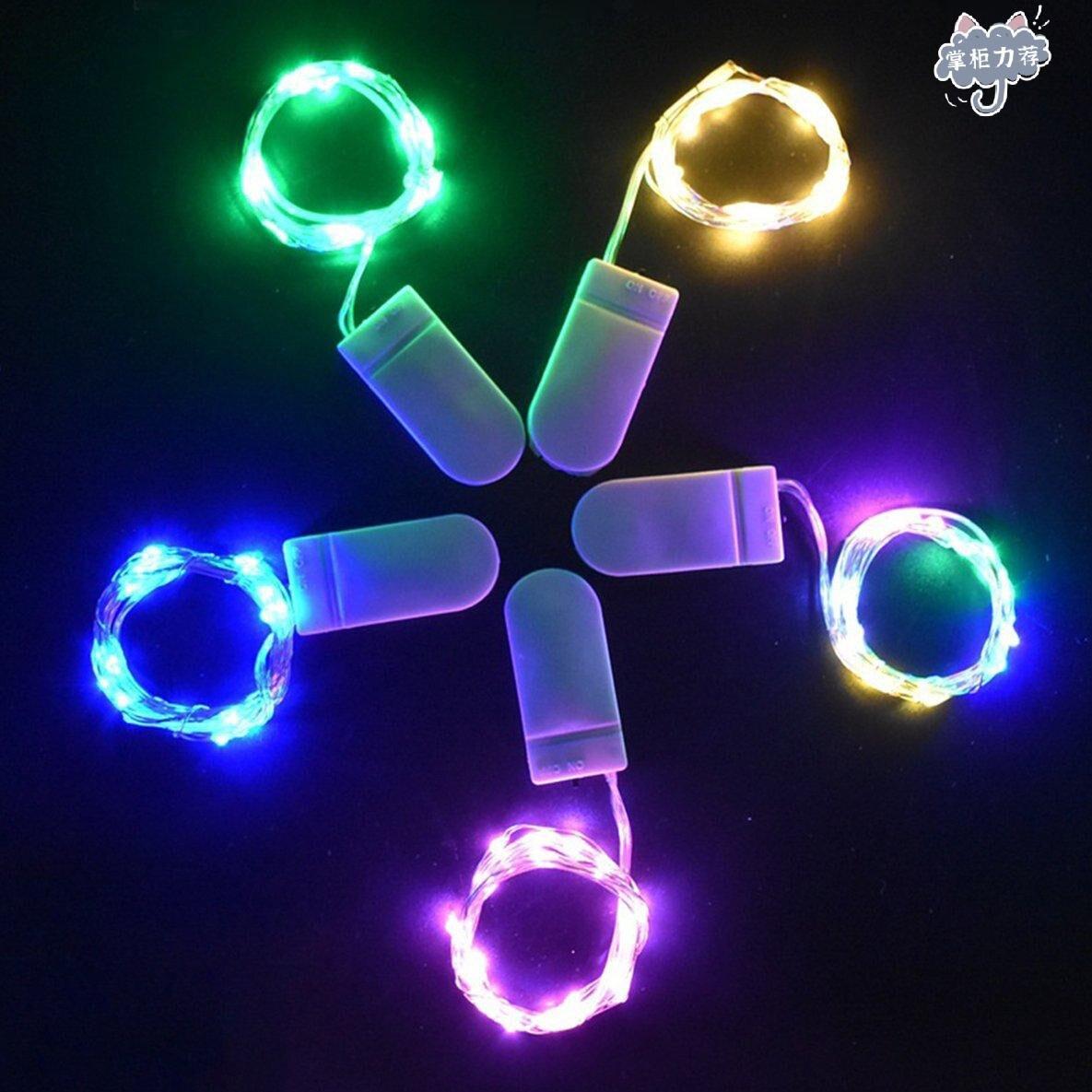 【全館免運】10m/20m防水 銅線燈 LED銅線燈串 紐扣燈串 電池款 聖誕燈串 聖誕節 銅絲燈 Led串燈 銅線10燈