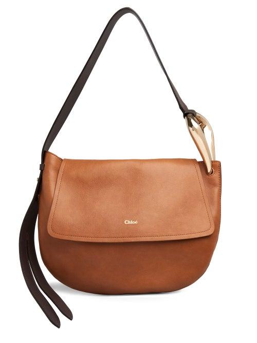 Chloé - Kiss Leather Shoulder Bag - Womens - Tan Multi