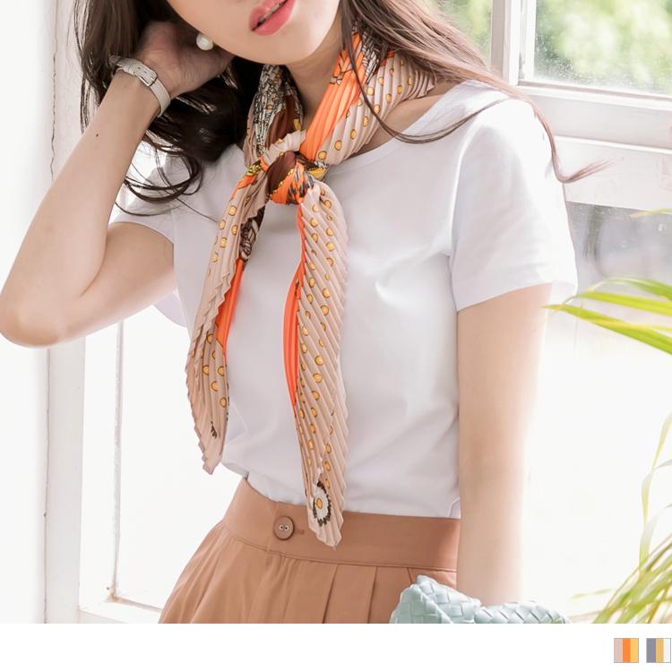 輕奢法式印花絲巾