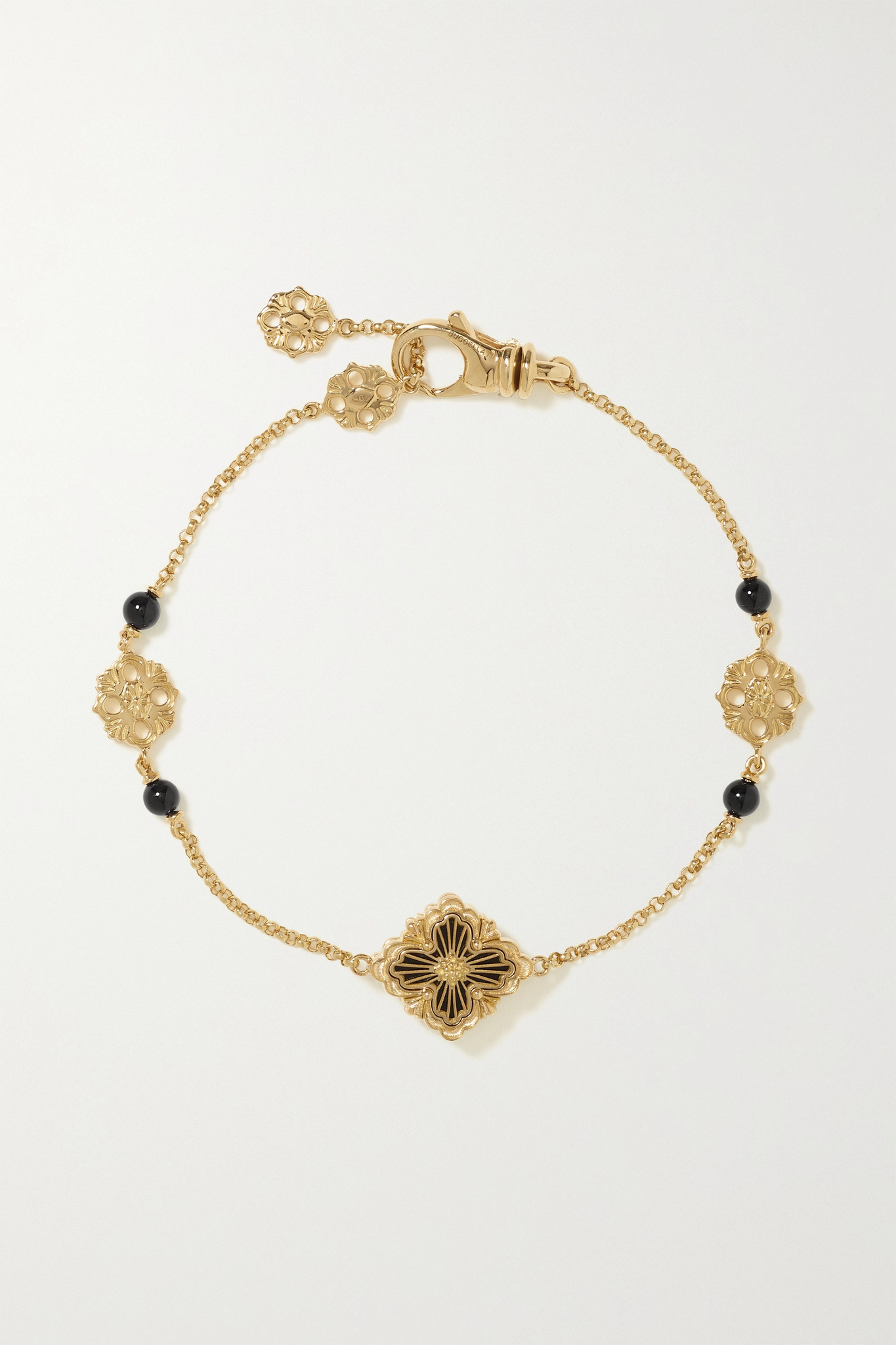 BUCCELLATI - Opera Tulle 18-karat Rose Gold Onyx Bracelet - S