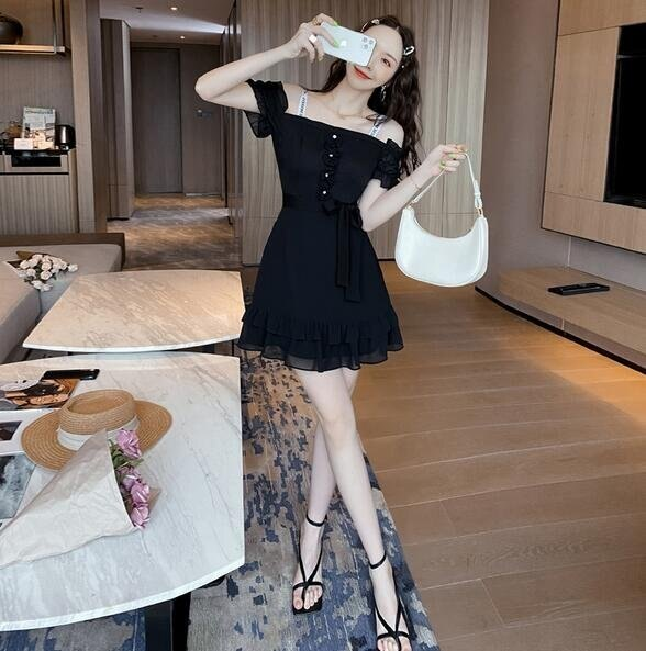 洋裝 吊帶裙 中長款 S-2XL新款連身裙 T235-5051. 果果輕時尚