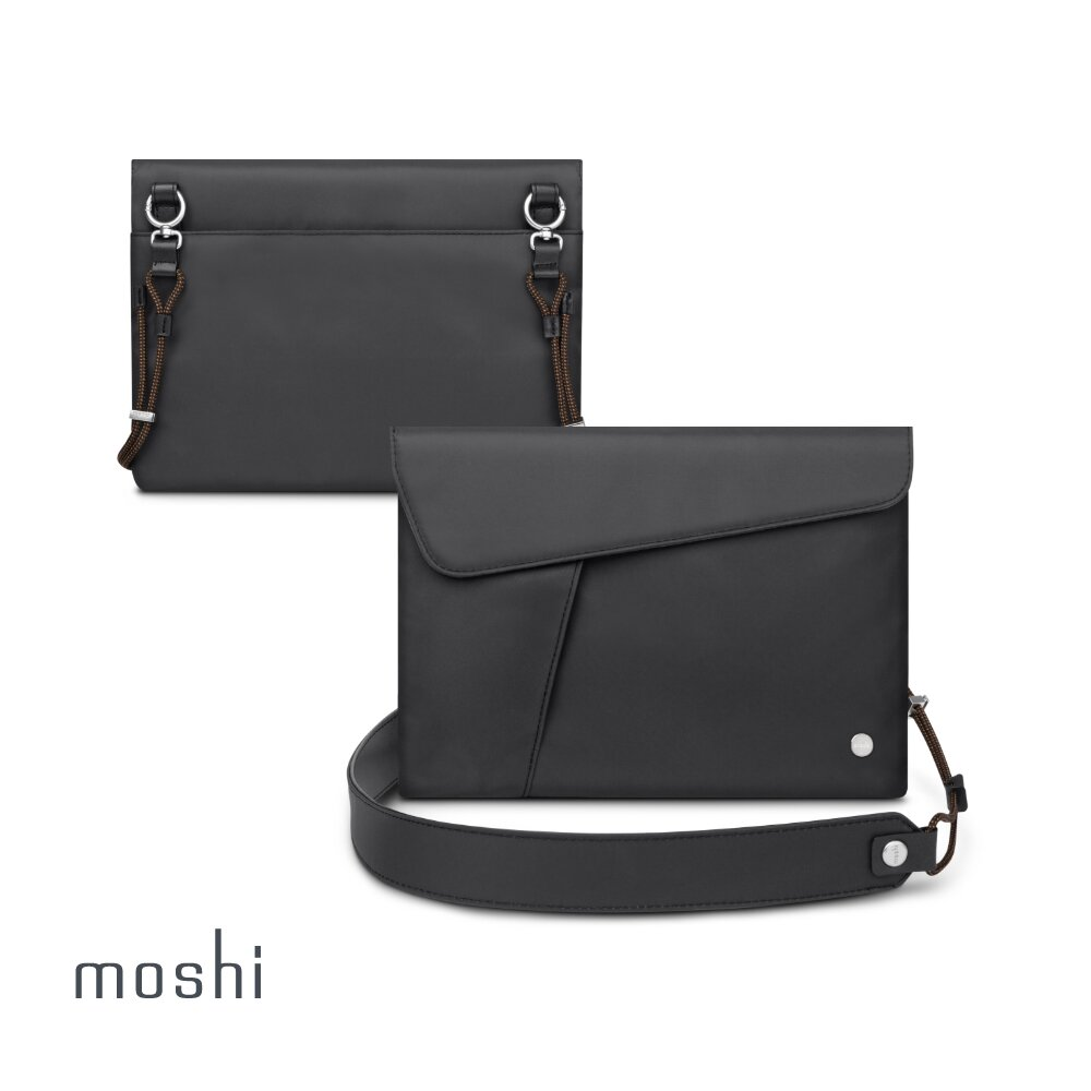 Moshi Aro Sacoche 隨身側背平板包 - 深黑