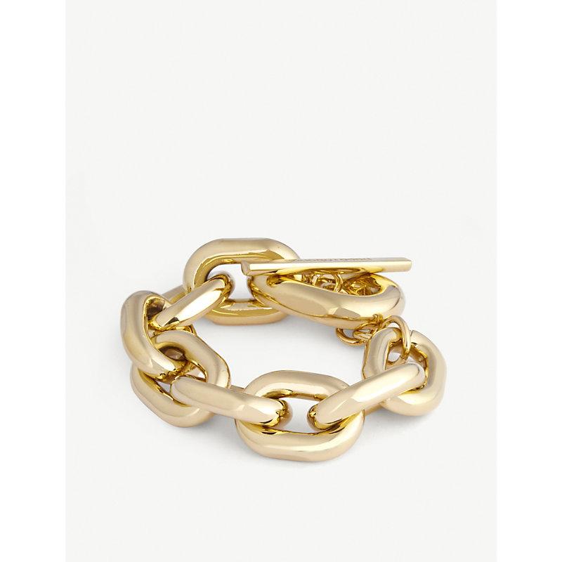 XL Link gold-tone chunky-chain bracelet