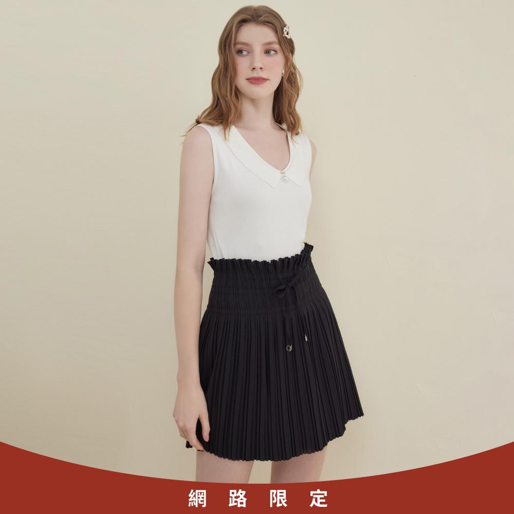 niceioi氣質荷葉花苞壓褶造型裙