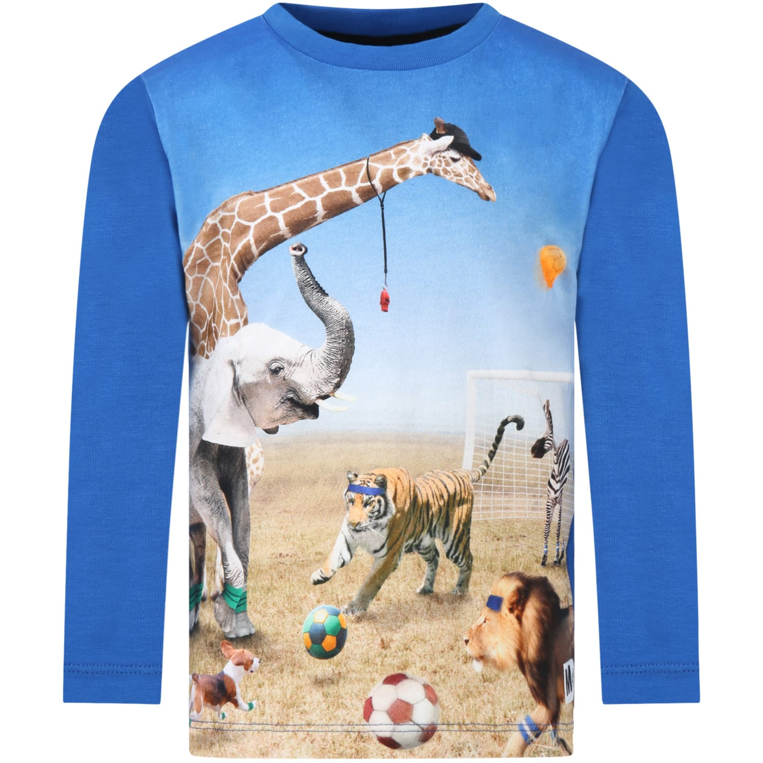 Blue reif T-shirt Fro Boy With Animals