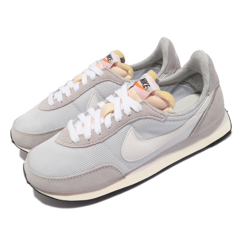 NIKE 休閒鞋 Waffle Trainer 2 運動 女鞋 基本款 簡約 舒適 麂皮 球鞋 穿搭 灰 白 [DM9091-011]