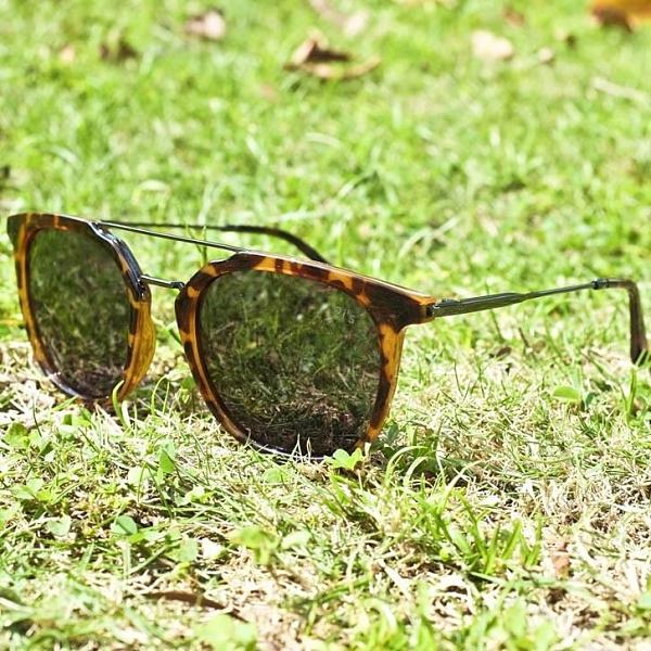【南紡購物中心】2is StuC 太陽眼鏡 偏光│雙樑橢圓框│玳瑁色│抗UV400