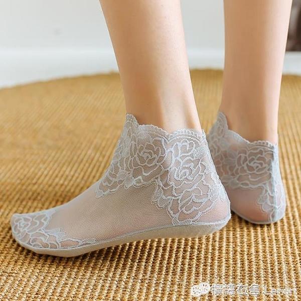 襪女短襪蕾絲花邊純棉底春夏薄款鏤空透氣低幫短筒韓版松口襪 檸檬衣舍