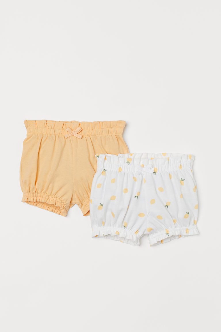 H & M - 2件入燈籠褲 - 黃色