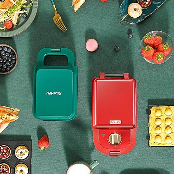 三明治早餐機家用小型定時神器多功能加厚封邊輕食吐司面包華夫餅 夢幻小鎮「快速出貨」